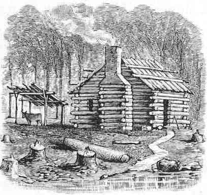 The project gutenberg ebook of the beginner 39 s american for Colonial log homes
