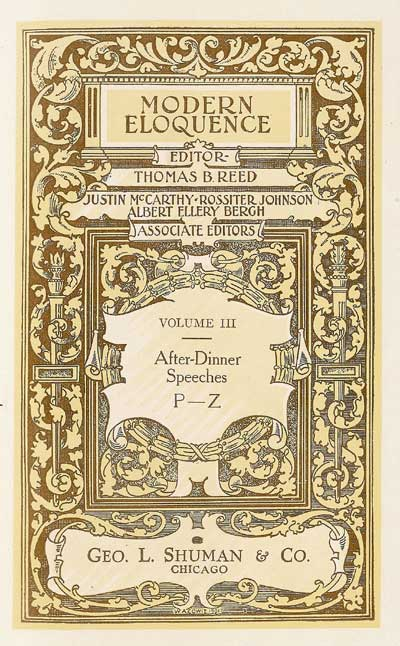 The project gutenberg ebook of modern eloquence volume iii after title page fandeluxe Image collections