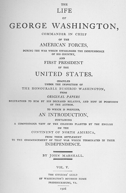 The Project Gutenberg eBook of The Life of George Washington