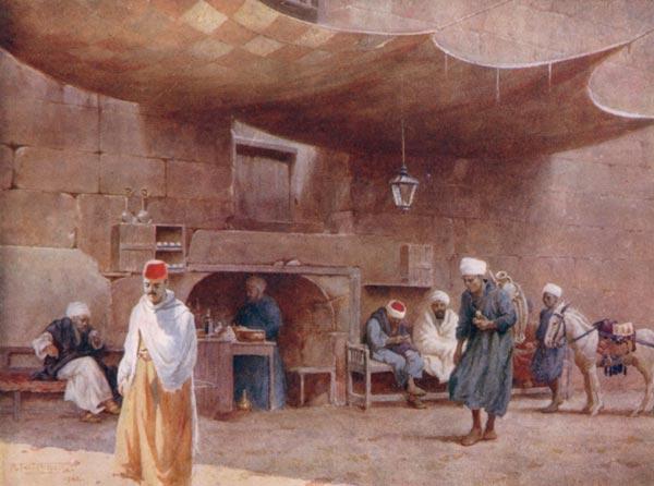 AN ARAB CAFÉ, CAIRO.