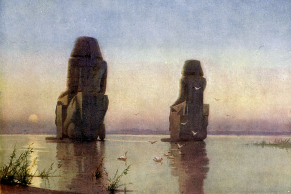 THE COLOSSI OF THEBES—MOONRISE.