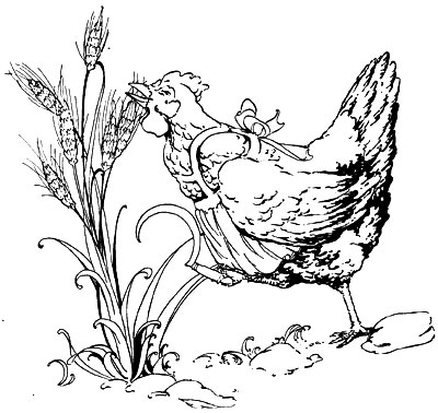 Visiting teaching surprise the little red hen for The little red hen coloring page