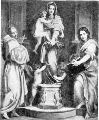 FIG. 39.—ANDREA DEL SARTO. MADONNA OF ST. FRANCIS. UFFIZI.