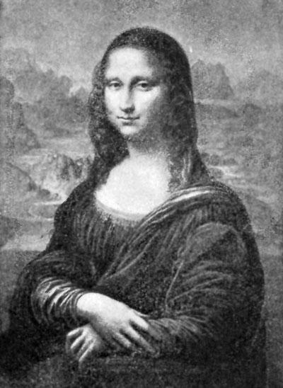 FIG. 43.—LEONARDO DA VINCI. MONA LISA. LOUVRE.