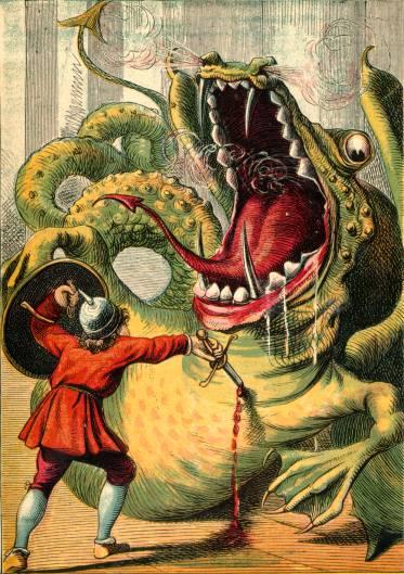 Illustration: Strong-arm killing Dragon.