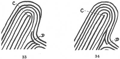 What sort of fingerprint is there on RR finger?  Fig033-034