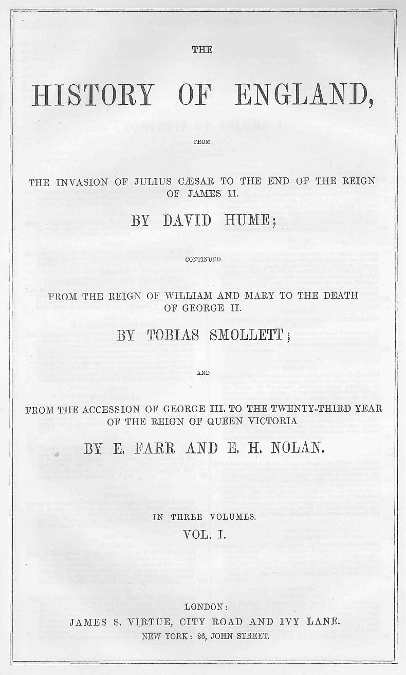 the history of england vol ia by david hume