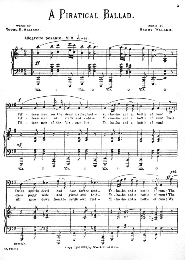 Piano dream a little dream of me piano sheet music : The Dead Men's Song, by Champion Ingraham Hitchcock.