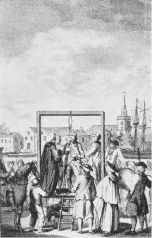 The project gutenberg ebook of the pirates whos who by philip gosse a pirate being hanged at execution dock wapping fandeluxe Choice Image