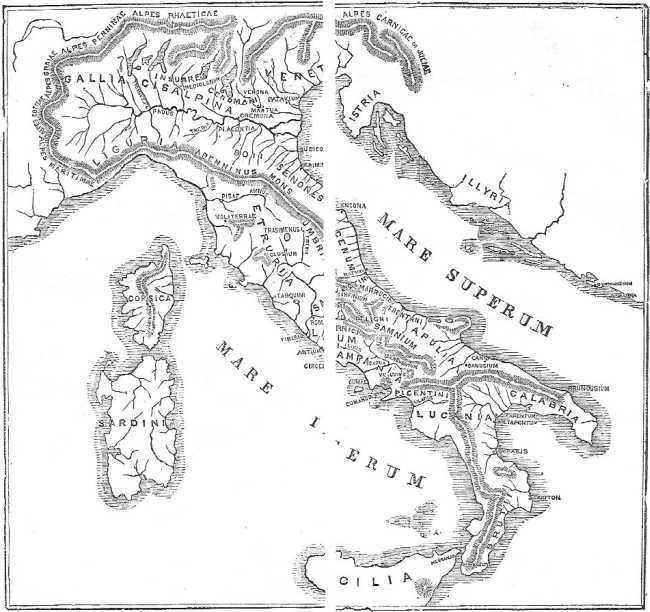 The project gutenberg ebook of a smaller history of rome by william map of italy fandeluxe Images