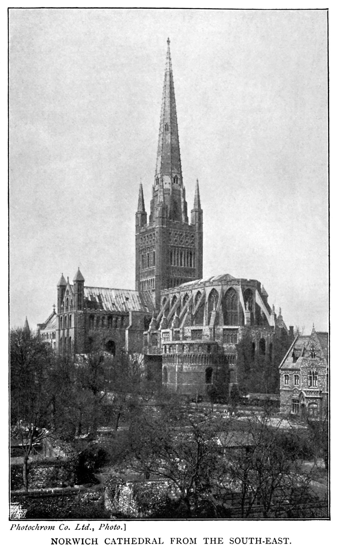 Norwich Cathedral from the South-East.