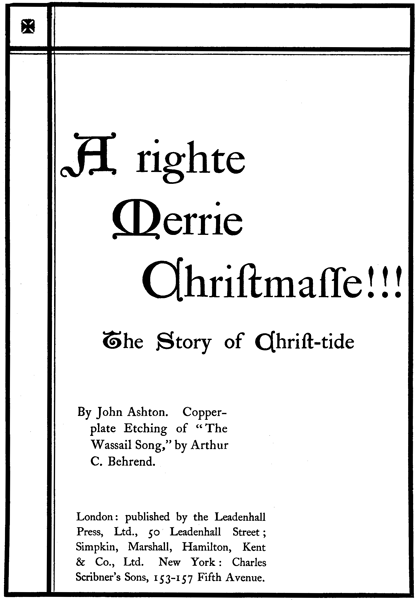 The Project Gutenberg Ebook Of A Righte Merrie Christmasse By