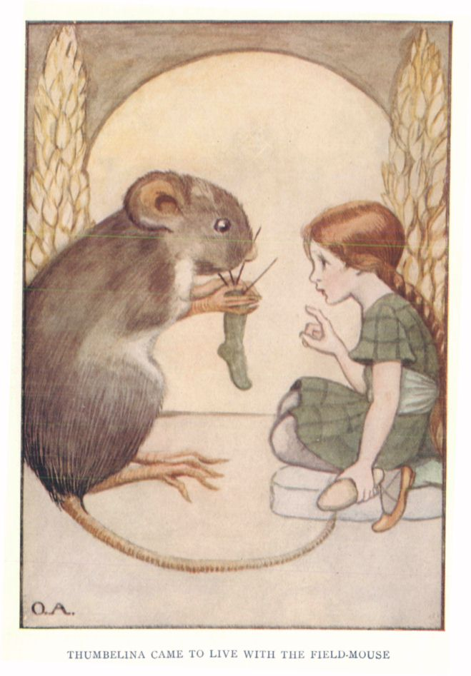 The project gutenberg ebook of the young folks treasury volume 1 thumbelina came to live with the field mouse fandeluxe Gallery