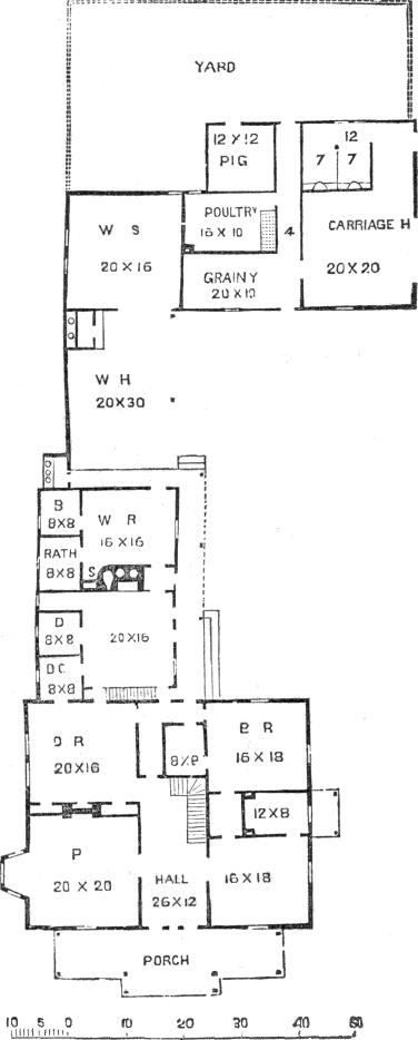 farm house 5, ground plan