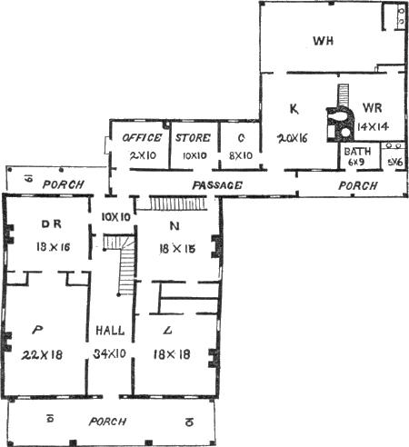 farm house 7, ground plan