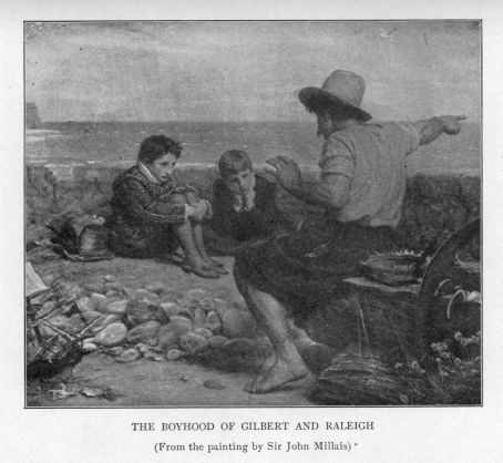 a4d00cdc328 THE BOYHOOD OF GILBERT AND RALEIGH. (From the painting by Sir John Millais)
