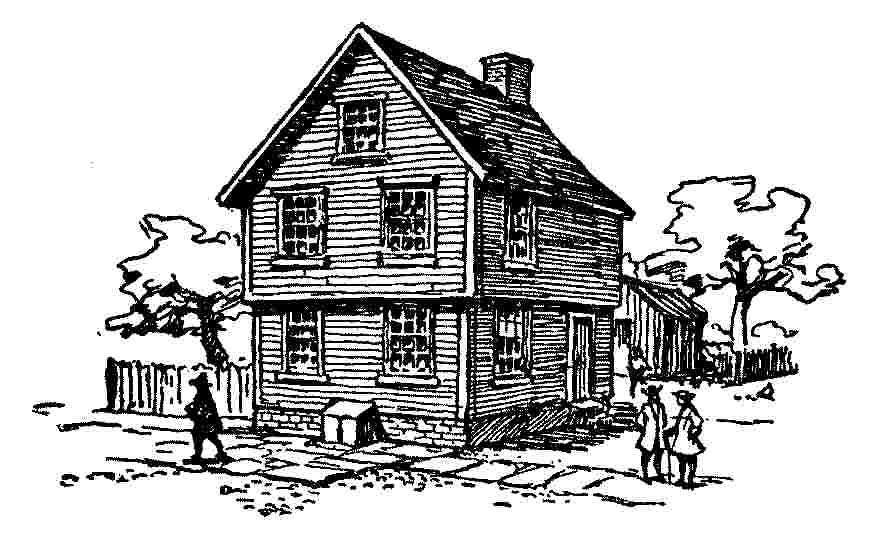 Birthplace of Franklin. Milk Street, Boston