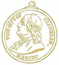 MEDAL GIVEN BY THE BOSTON PUBLIC SCHOOLS FROM THE FRANKLIN FUND