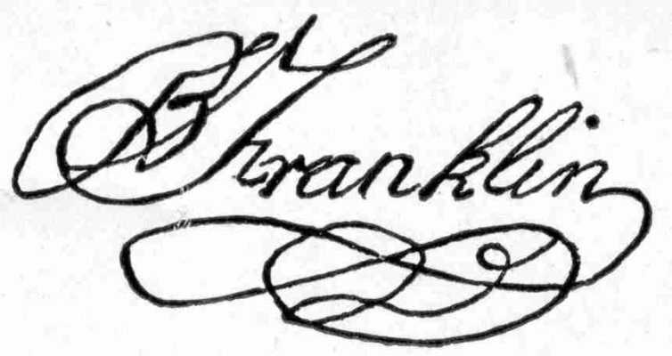 B. Franklin's signature