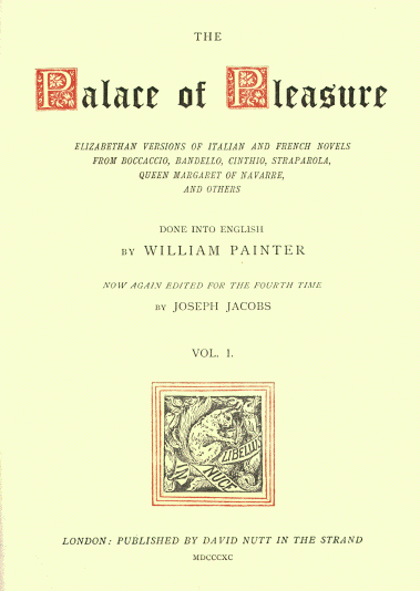 The palace of pleasure introduction title page text at end of file fandeluxe Choice Image