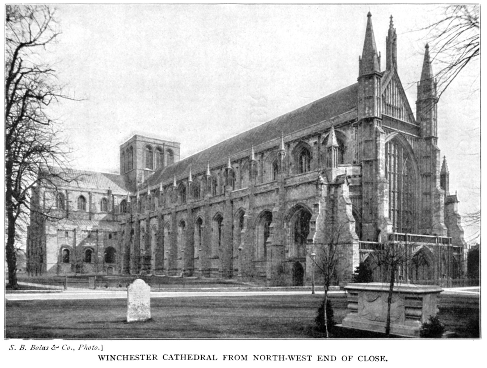 The project gutenberg ebook of bells cathedrals the cathedral winchester cathedral from north west end of close fandeluxe Image collections