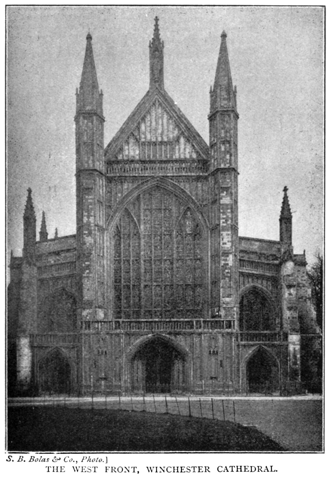 The project gutenberg ebook of bells cathedrals the cathedral the west front winchester cathedral fandeluxe Choice Image