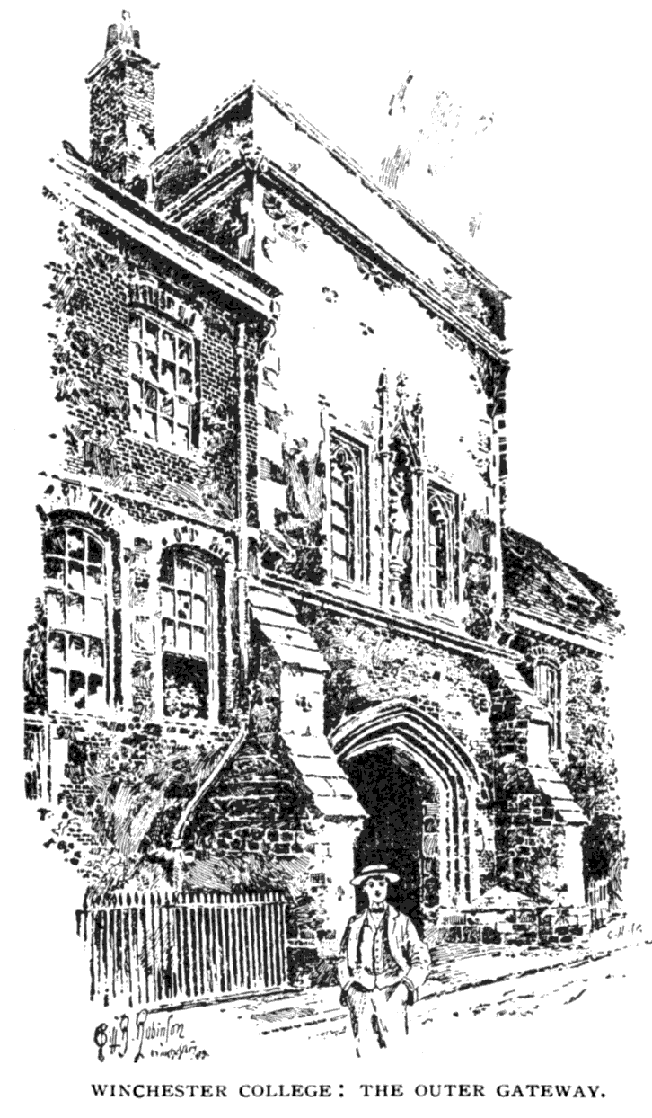 The project gutenberg ebook of bells cathedrals the cathedral winchester college the outer gateway fandeluxe Choice Image