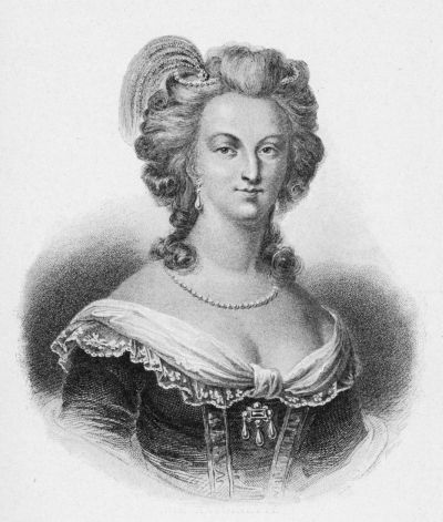 The Project Gutenberg eBook of Marie Antoinette Black And White Painting