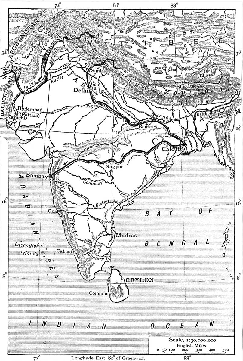 The Project Gutenberg Ebook Of From Pole To By Sven Anders Hedin Brute Force 650 Wiring Diagram Map India Showing Journey Nushki Leh