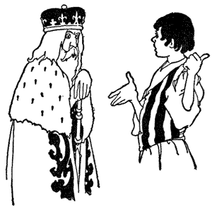 Image result for curdken talking to the king
