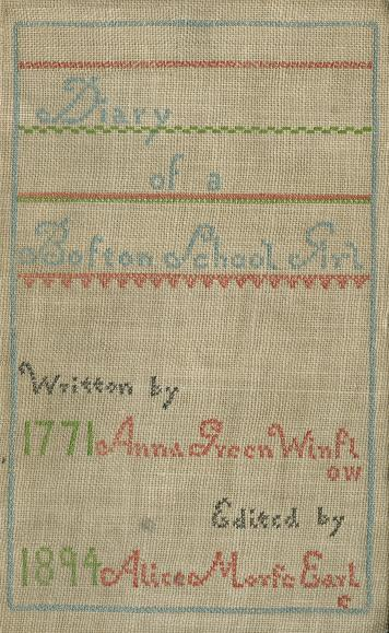 The Project Gutenberg Ebook Of Diary Of Anna Green Winslow By Anna