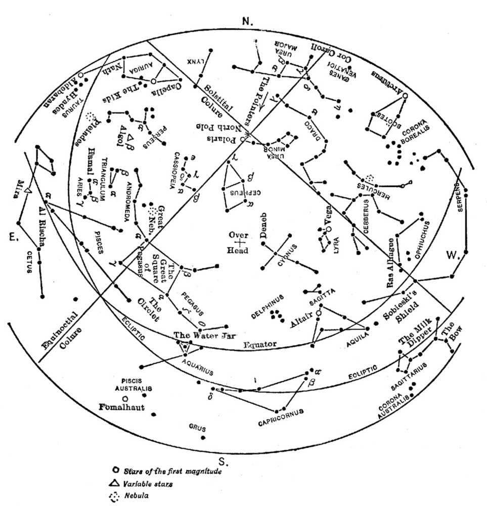 Star Map For Kids.The Project Gutenberg Ebook Of A Field Book Of The Stars By William