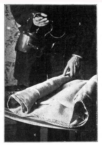 Preparing Blanket for Fomentation