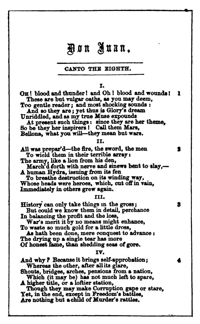 Don Juan, by Lord Byron
