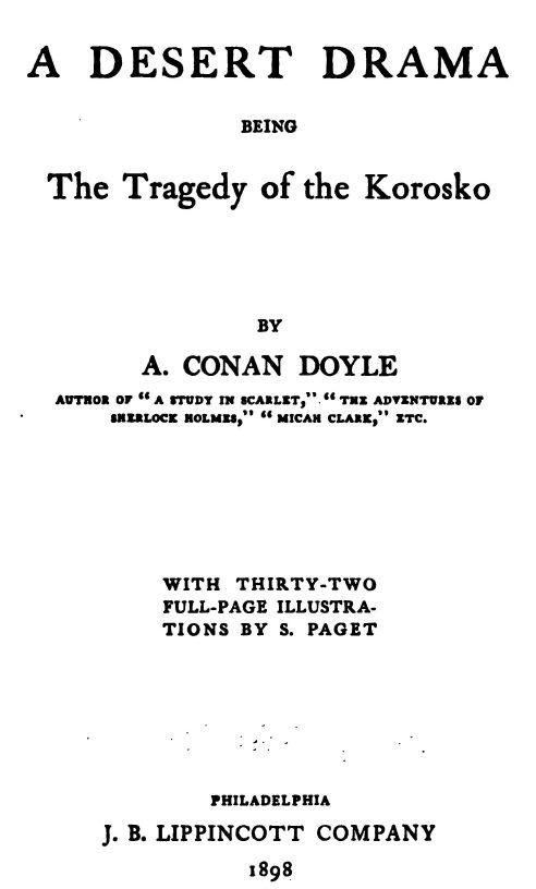 A Desert Drama By A Conan Doyle