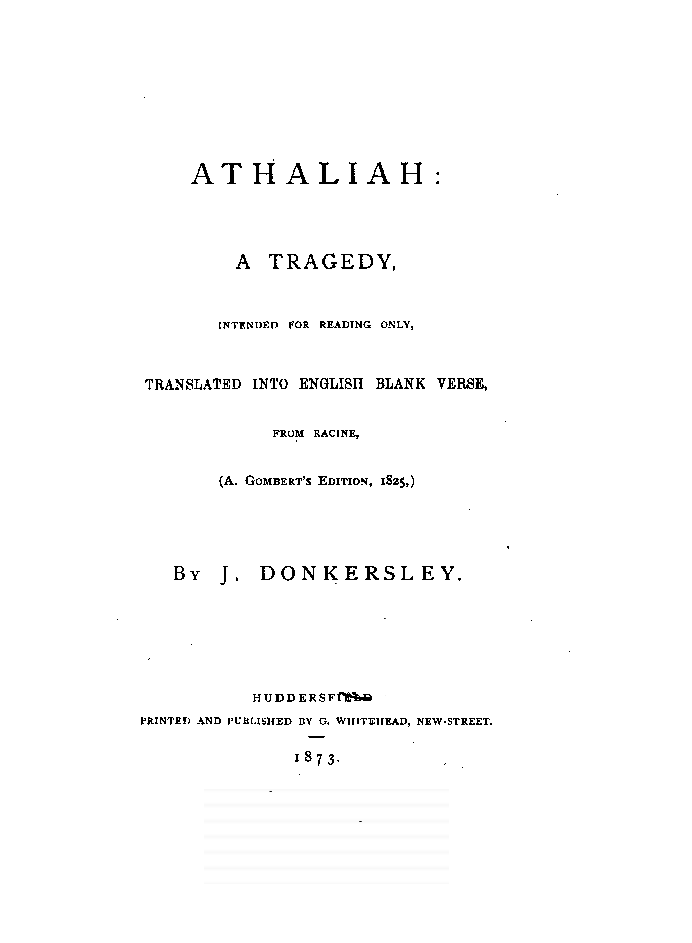 Athaliah of racine by j donkersley athaliah fandeluxe Images