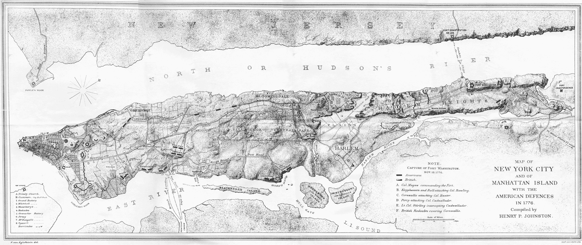 Battle Of Brooklyn - Map of new york city during the american revolution