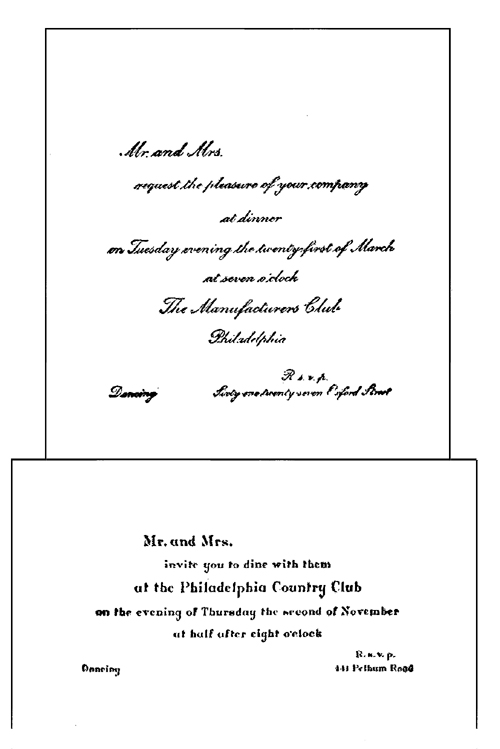 The Project Gutenberg eBook of How to Write Letters by Mary Owens – Formal Dinner Invitation Letter