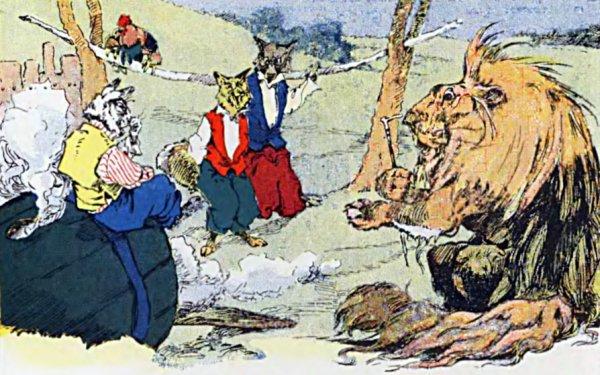Brer Rabbit And Brer Lion But Dey Holp Brer Rabbit