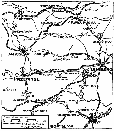 sandomir russen brücke 1914
