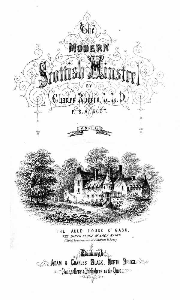 The Project Gutenberg Ebook Of The Modern Scottish Minstrel Volume
