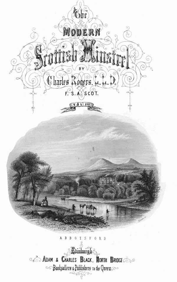 The Project Gutenberg Ebook Of The Modern Scottish Minstrel Volume