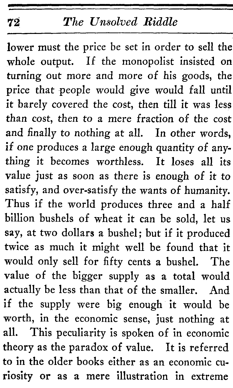 The project gutenberg ebook of the unsolved riddle of social justice if the monopolist insisted on turning out more and more of his goods the price that people would give fandeluxe Gallery