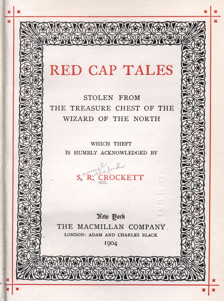 The project gutenberg ebook of red cap tales by s r crockett cover title page fandeluxe Choice Image