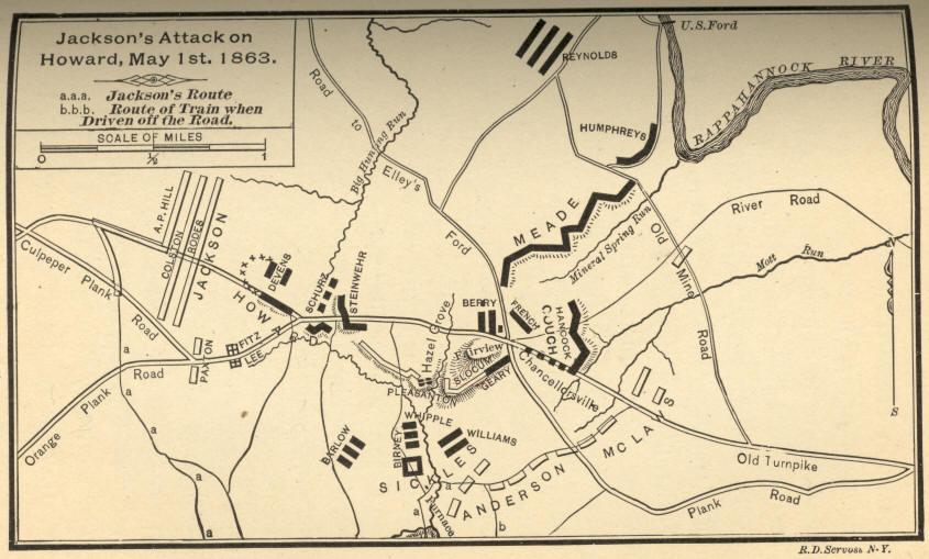 jacksons attack on howard may 1st 1863