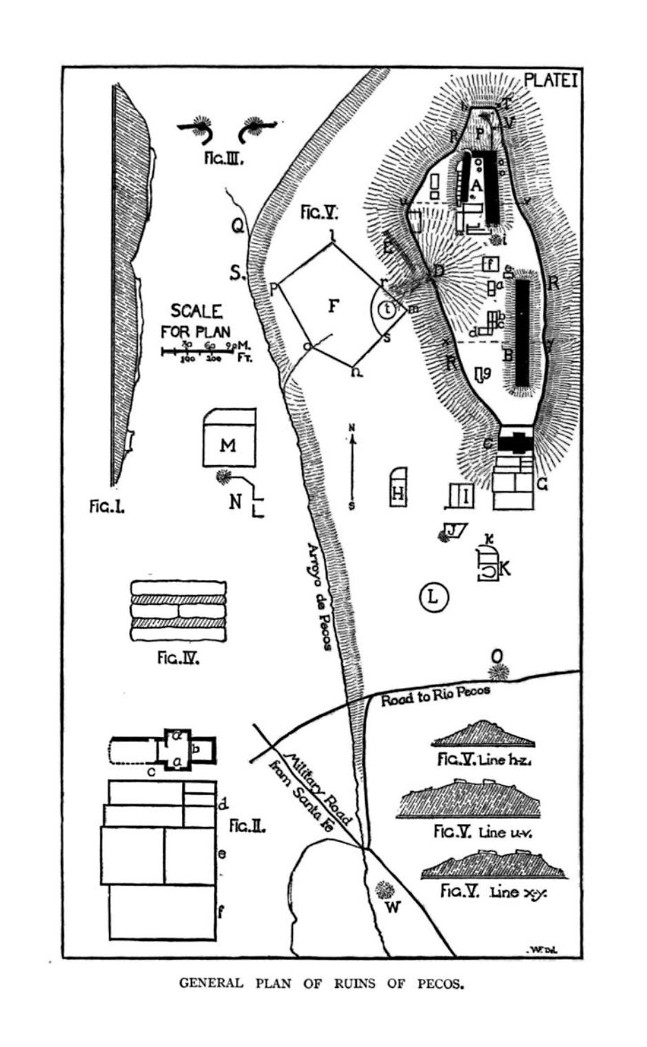 The project gutenberg ebook of historical introduction to studies plate i general plan of ruins of pecos fandeluxe Images
