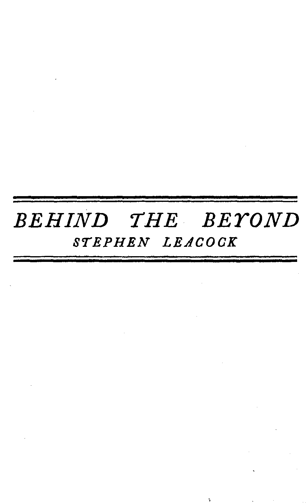 The project gutenberg ebook of behind the beyond by stephen leacock decoration fandeluxe Document