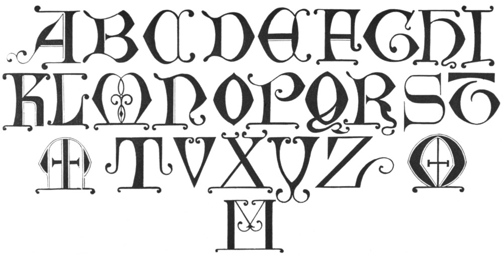 Medieval Alphabet Coloring Pages : Free coloring pages of illuminated letter h
