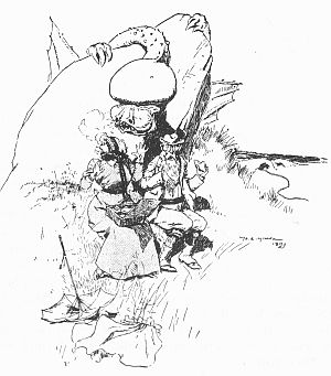 """'""""By-and-by he began to wander."""" See page 29.' from the web at 'http://www.gutenberg.org/files/23661/23661-h/images/gs06.jpg'"""