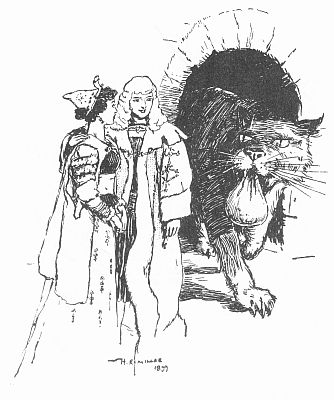"""'""""He brought something in his mouth—it was a bag of gold."""" See page 116.' from the web at 'http://www.gutenberg.org/files/23661/23661-h/images/gs19.jpg'"""